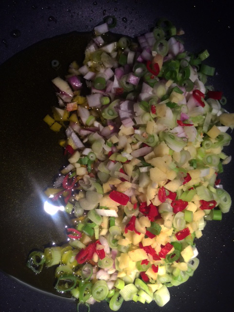 Grönsaker i wok